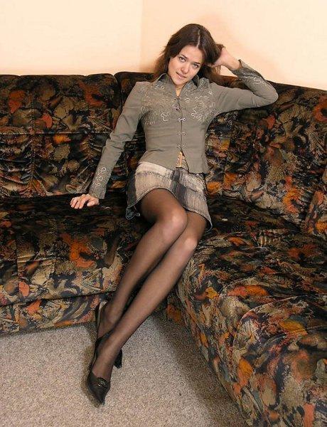 In collant sul divano