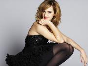 Emma Watson in collant neri