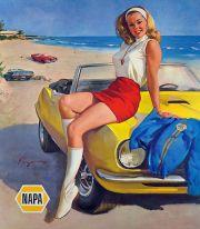 Illustration for Napa Auto Parts c. 1970's
