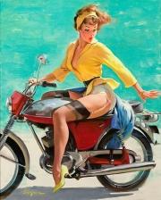 In nylon sulla moto