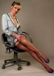 Calze di nylon in ufficio