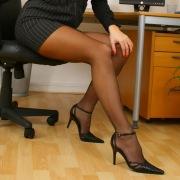 Calze e vestito nero