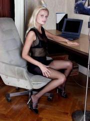 In collant in ufficio