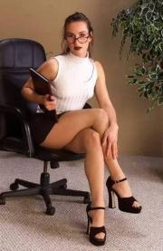 Le gambe della segretaria