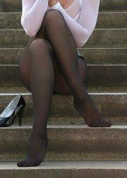 In collant sulle scale