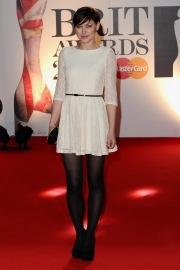 Emma Willis in collant neri