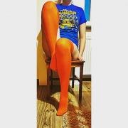 Improbabili calze arancioni