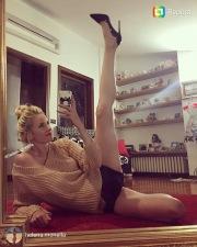 La lunga gamba della miss