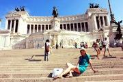 Miss marzo in visita a Roma