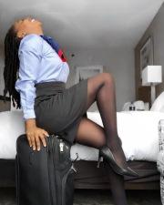 Stewardess in albergo