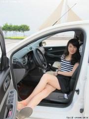 Sandali in auto
