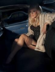 Calze di nylon in auto