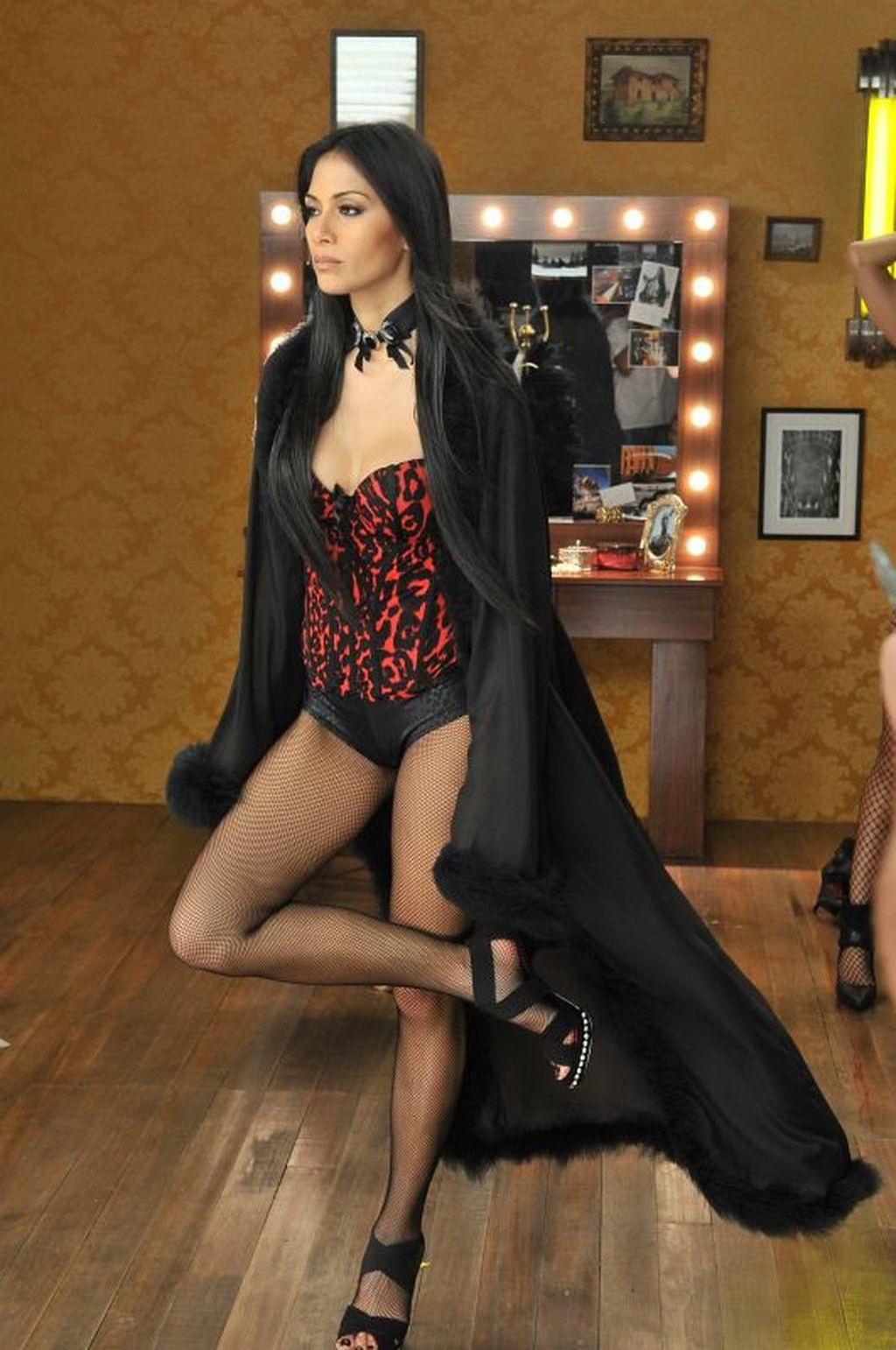 Nicole Scherzinger in collant a rete