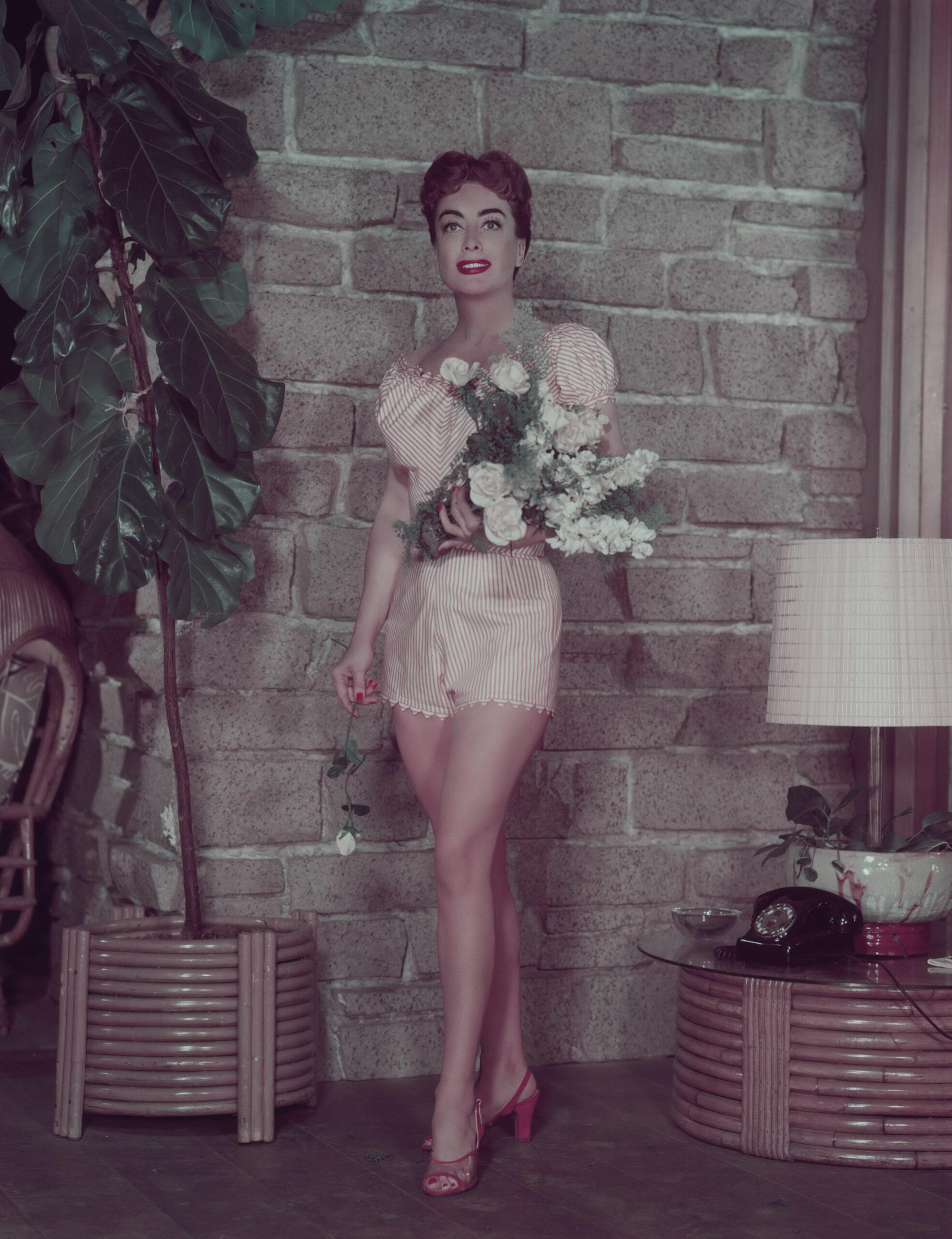 le gambe di Joan Crawford senza calze