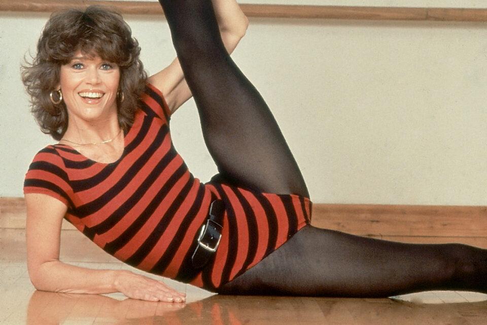 Jane Fonda in collant