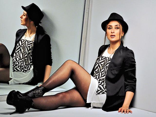 Kareena Kapoor Khan in collant neri